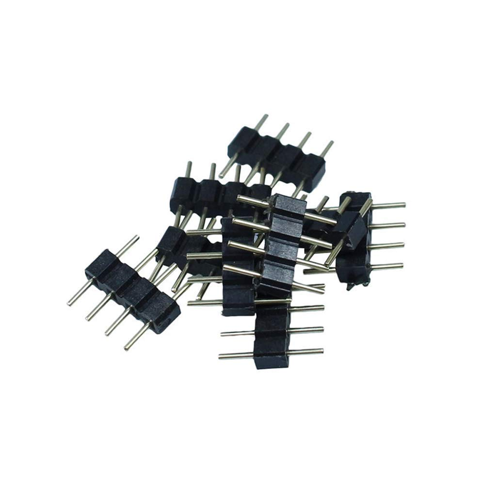 comboss 20 PCS 4 Pin Male Connector for 3528 5050 SMD RGB Led Strip Lighting