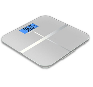Digital Body Weight Bathroom Scale by Balance, Large Glass Top, Backlit Display, Precision Measurements,