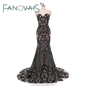 WD-12 Custom made Sexy Girls Formal Party Gown Sweetheart Sequin Mermaid Long Evening Dress