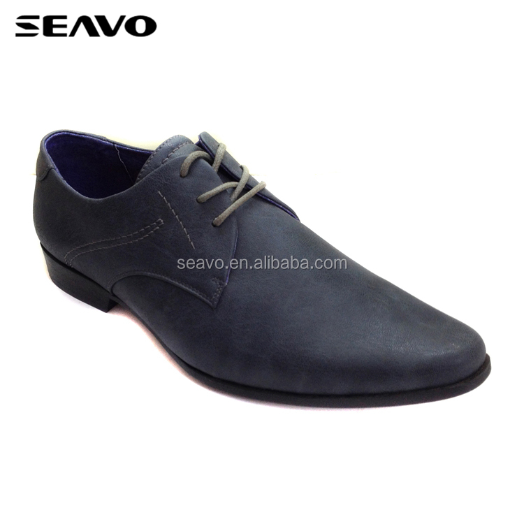 SEAVO SS18 fashion pointed-toe style distinctive men purple wedding dress shoes