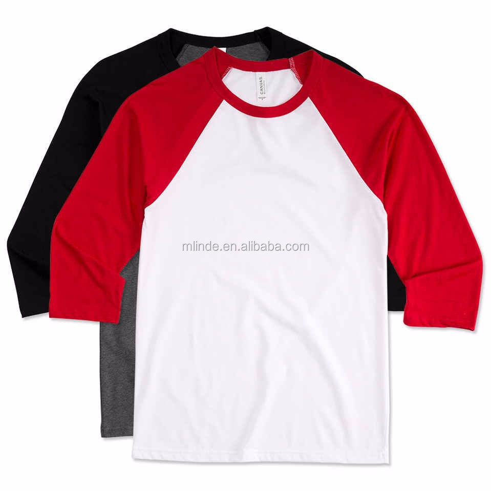 Cheap raglan badeball t shirts men fashion gym sport wear Designer baseball shirts
