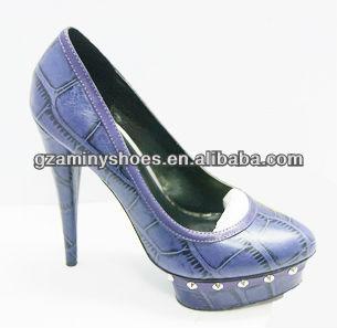 pump leather Genuine high shoes heel AF6nx6Y