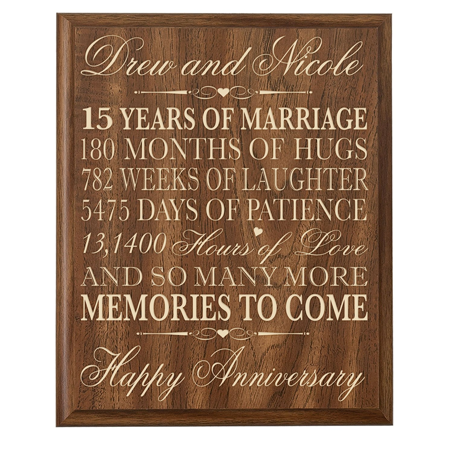 Buy Personalized 15th Wedding Anniversary Gift For Couplecustom