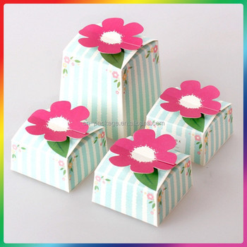 2015 Hot Sale Wedding Box Cake Boxes With Flower Handle