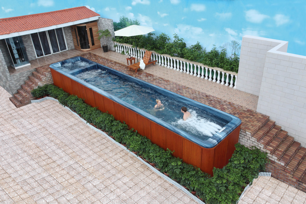 Hs Sp12 Large Size Rectangle Jet Whirlpool Above Ground Pool China Buy Above Ground Pool China