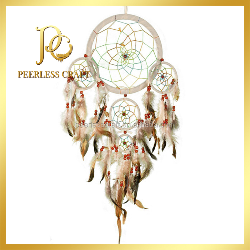 40 Tiered Beige Cherokee Indian Dream Catcher Feather Dream Catcher Interesting Cherokee Indian Dream Catcher