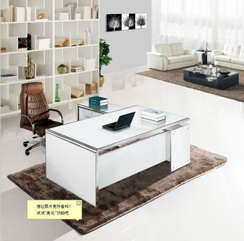 Wonderful Office Furniture Glass Table,office Executive Glass Table Modern,high End  Glass Desk MR