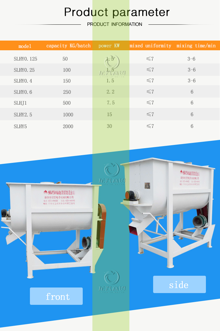 wholesale steel electric motor 800kg feed mixer