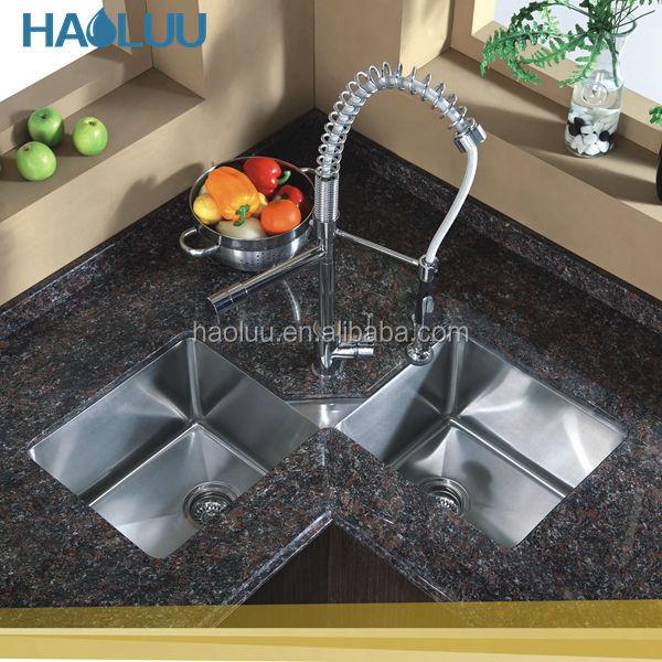 handgefertigt bauernhaus schürze edelstahl küche eckspüle ... - Eckwaschbecken Küche