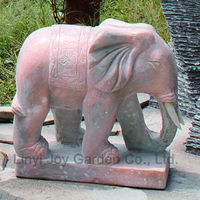 Outdoor Garden Deco Stone White Marble Elephant Sculpture For Sale ...