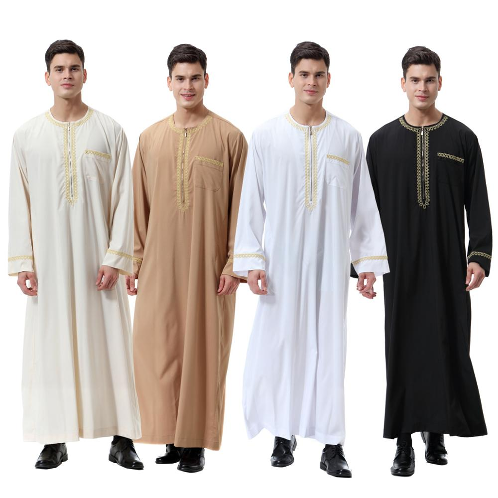 Muslim Islamic Clothing for men Arabia Islamic abaya Men's Kaftan Jubba islam Apparel men thobe