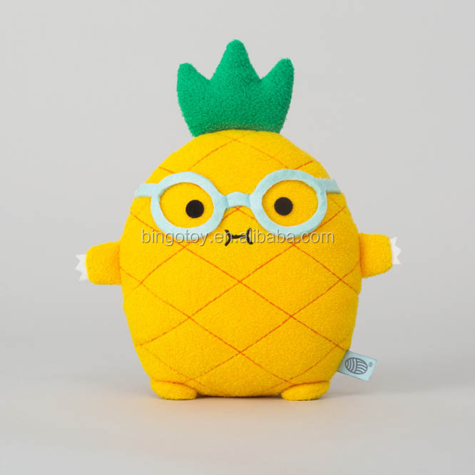 New year Hot Sale Cute Stuffed Fruit Toy Plush Pineapple Toy Plush Vegetable and Fruits Toys
