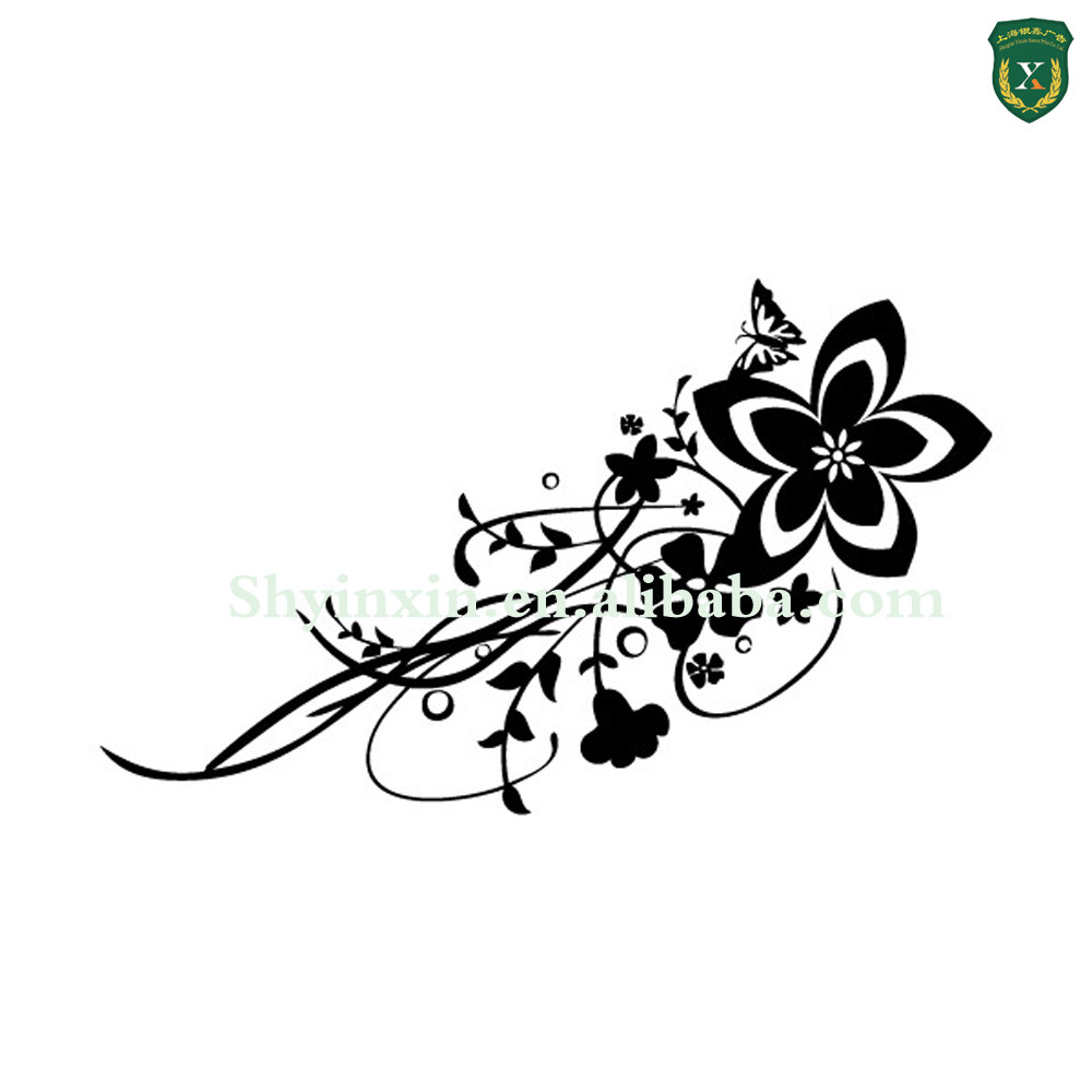 Hot Sale Fashion Flower Design Waterproof Decorative Wall Decal Sticker For Furniture