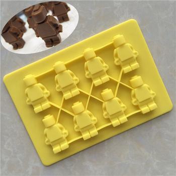 8 Hohlraum Roboter Form Sussigkeiten Schokolade Jelly Herstellung