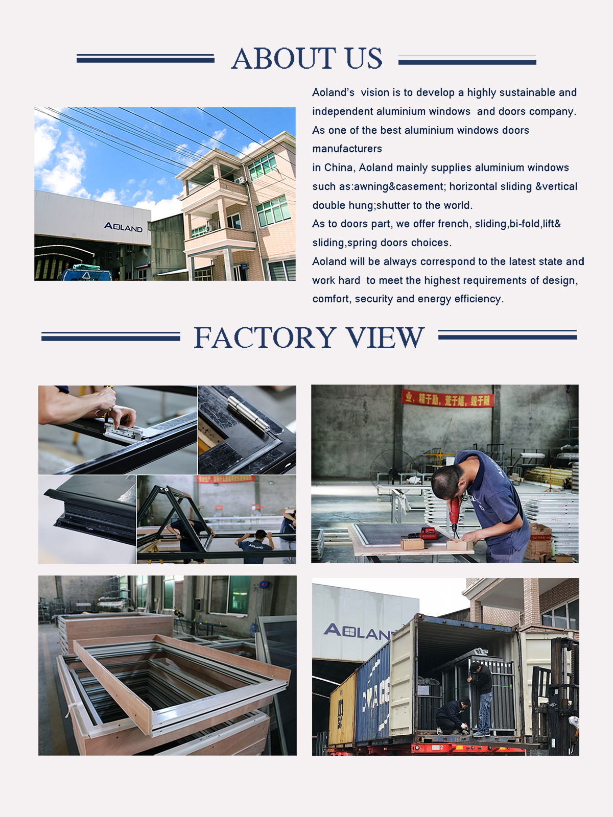 Aluminium hurricane impact bi-folding entyry  doors with fluorocarbon coating