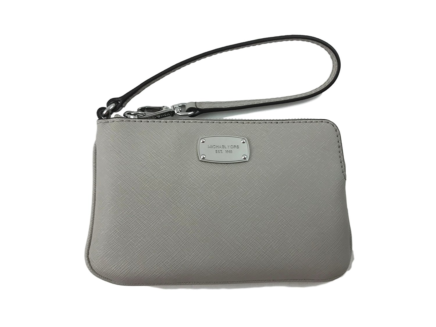 Micheal Kors Jet Set Item Medium Top Zip Leather Wristlet