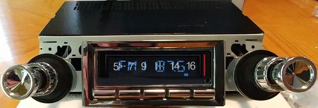 1961-1962 Chevrolet Impala 300 watt Custom Autosound USA-740 AM FM Car Stereo/Radio with built-in Bluetooth, AUX Inputs, Color Change LCD Digital Display