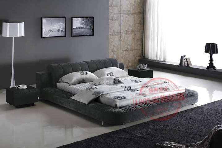 indian double low bed designs