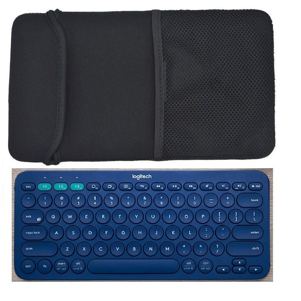 64cc726c0ff Get Quotations · Black Color Neoprene Carrying Protection Sleeve Case Cover  for Logitech K380 Multi-Device Bluetooth Keyboard