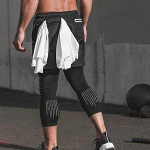 Mens Custom Running Crossfit Sport Gym Compressie Zweet Yoga Jogger Broek Shorts