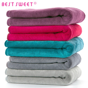 Washable 80 polyester 20 polyamide microfiber towel quick dry hair towel
