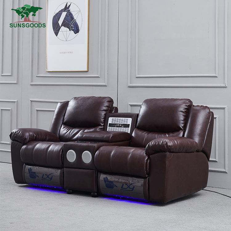 Best selling home theater sound system furniture recliner sofa,lazy boy recliner massage chair with air cleaner,storage bo