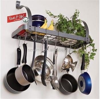 Kitchen Pan Holder Wall Mount Organizer Metal Pot Rack - Buy Pot Rack,Pan  Organizer,Pot Holder Product on Alibaba.com