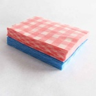Square pattern 22 mesh cleaning cloth Spunlace non woven kitchen wipes