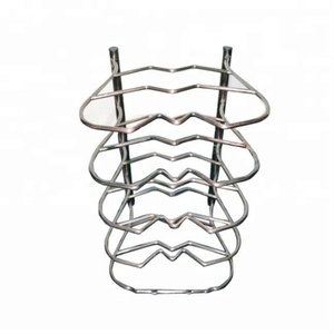 Wholesale 5 Tier Kitchen Storage Rack Cooking Organizer Metal Pan Pot Rack