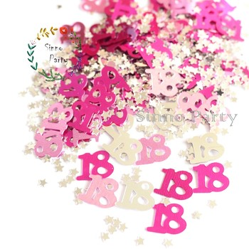 SINNO 18th Birthday Table Confetti Party Decoration 1 2 Oz Multicolor