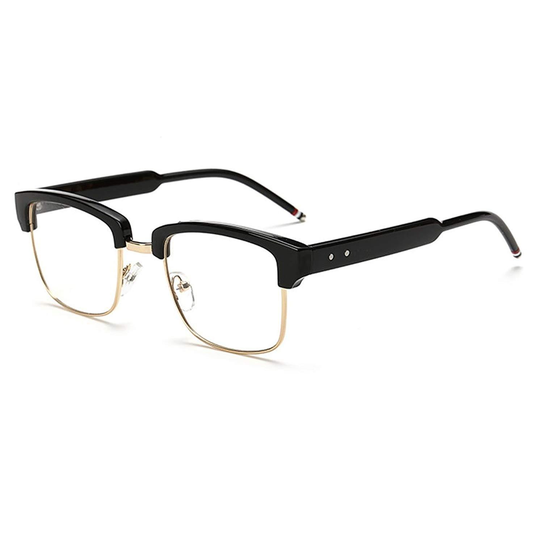 5e8e11e70f Get Quotations · D.King Oversize Horn Rimmed Wide Arms Glasses Frames Clear  Lens Square Eyeglasses