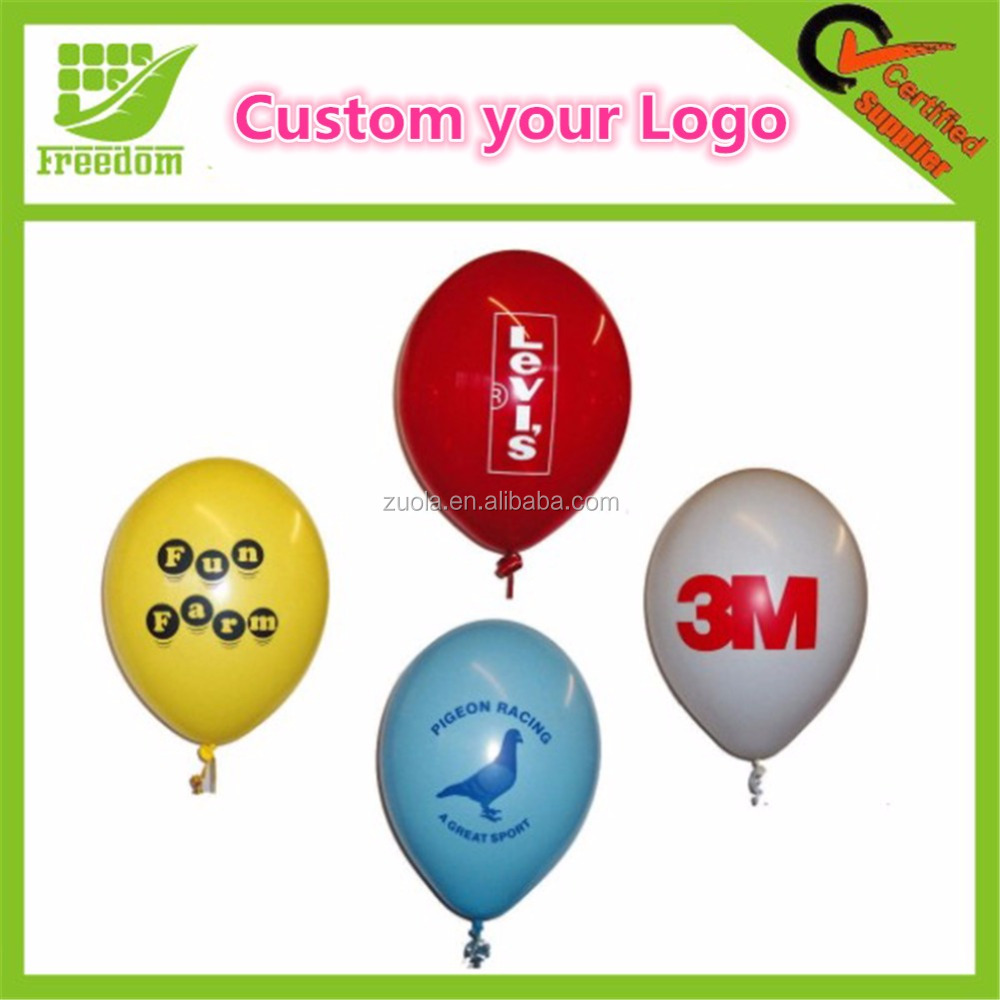 Custom various kinds of balloons latex with your design and Logo