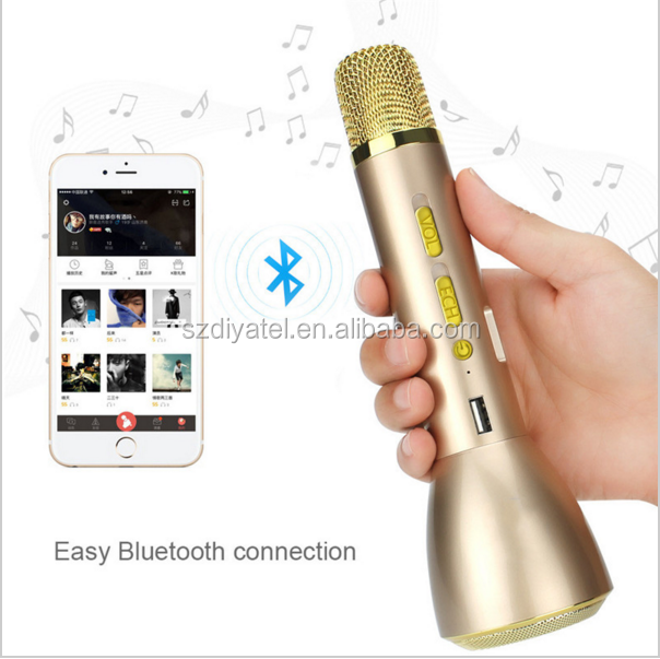 K088 Wireless Mini Bluetooth Microphone Speaker Recorded Song Singing Player Microphone Mobile KTV Better PK K068
