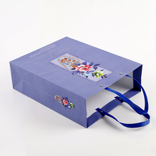 3D Printing Ribbon Handle Paper Purple Bags