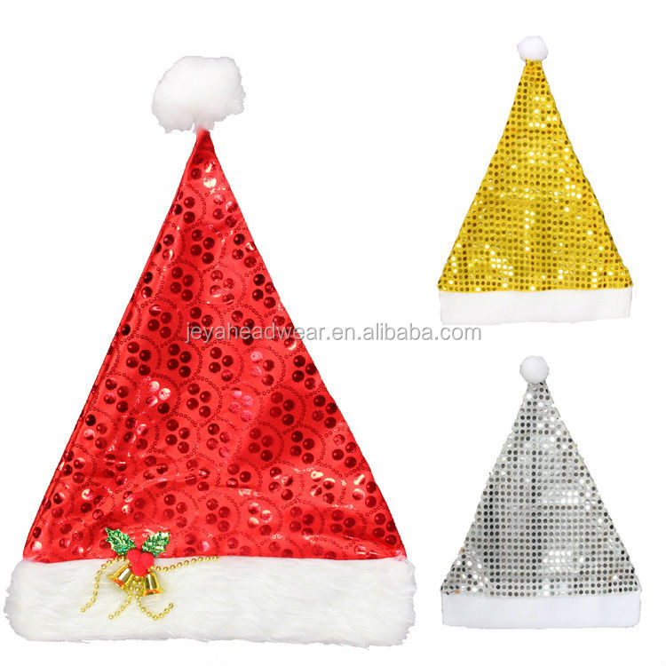 Best Cheap Christmas Hat Sequined Christma dancing christmas hats