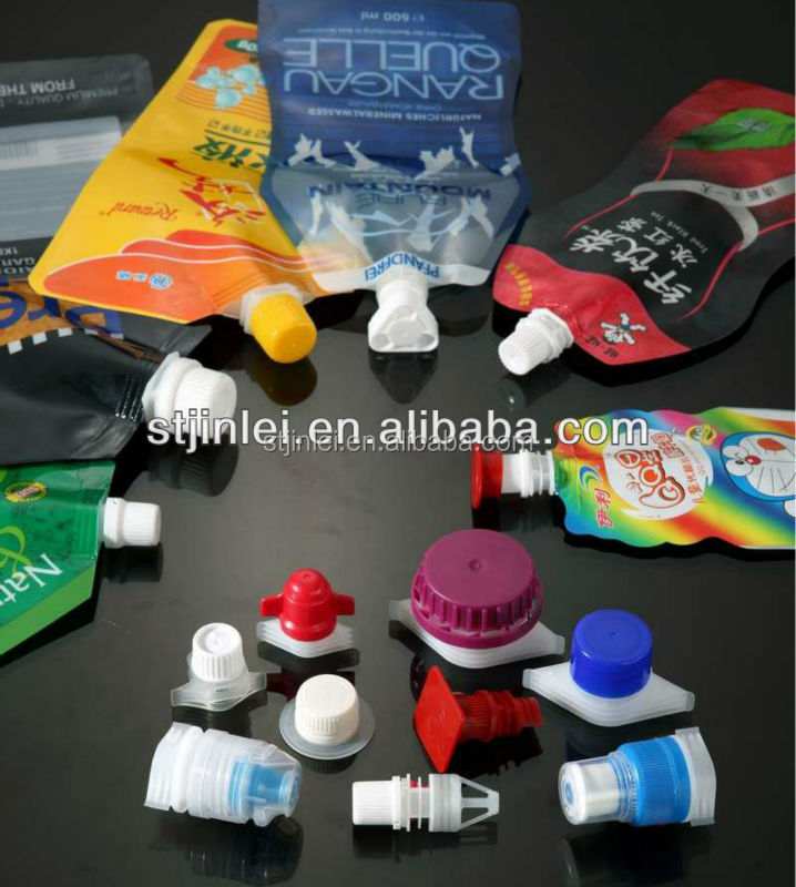 flexible packaging plastic spout and cap