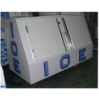 400L freezer gas station bagged ice storage bin designed for outdoor usage