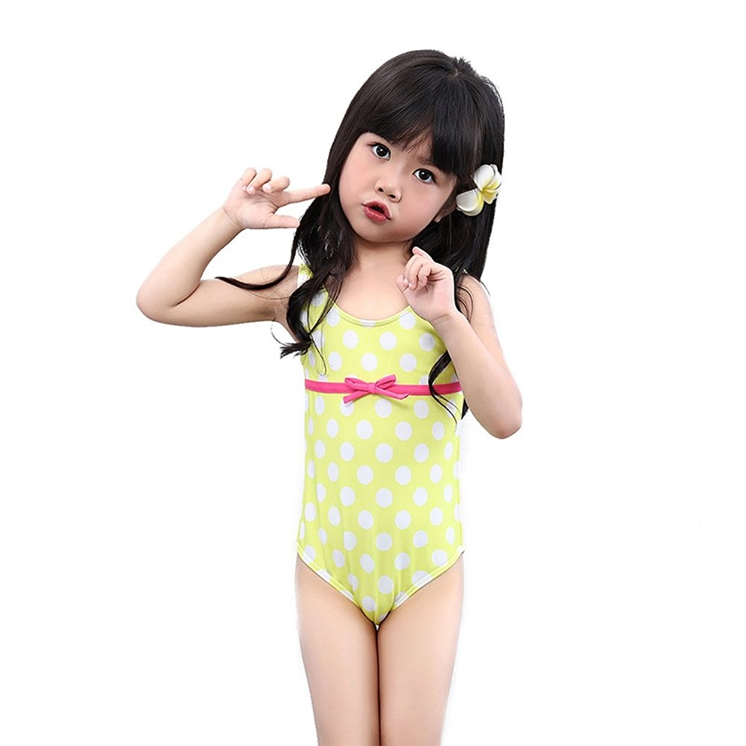 33e2788423dca BERTERI One-Piece Cute White Dots Swimsuit Bathing Suits Bikini Swimwear  for Baby Girls/Kid/Toddler/Infant/Children Take Photos Summmer Beach Outfit  Red ...