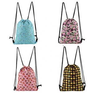 Lovely emoji drawstring backpack emoji drawstring bag
