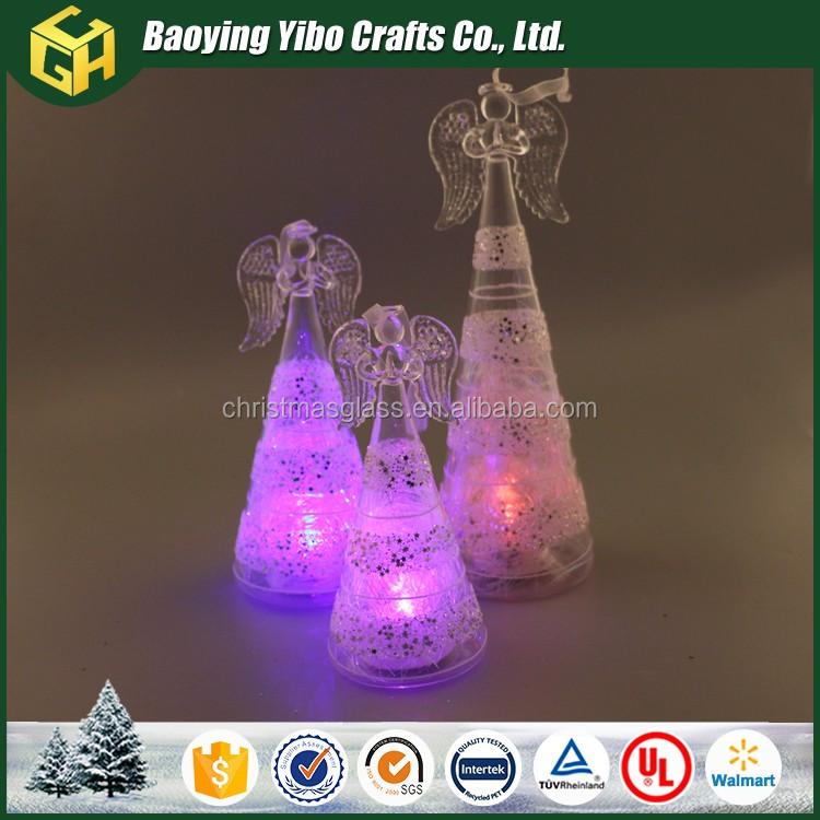 Glas Angel Met Led-verlichting Kleur Veranderen Voor Woondecoratie ...