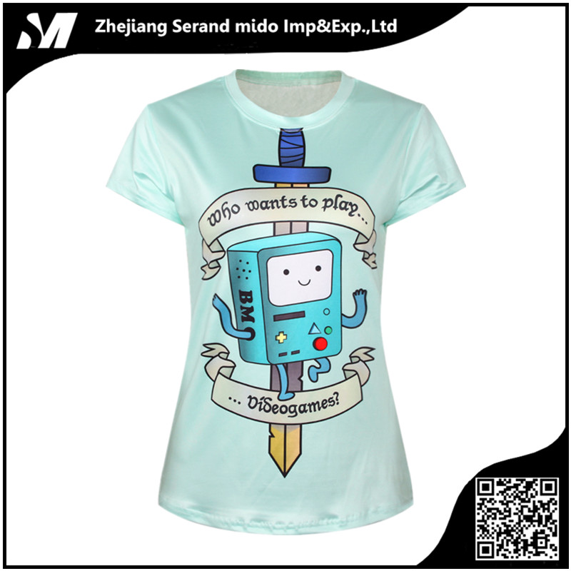 Wholesale women's allover printing 3D T-shirt