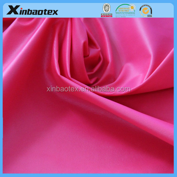 red bonding fabric 30D double interlock fabric + TPU film(high transparency film)