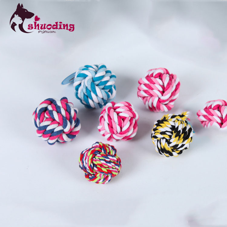 The Factory Sells 6cm Cotton Rope knitting Ball Dog Toy Cotton Rope Ball Pet Toys