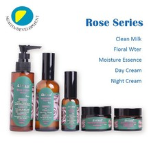 Rose Blanchir Hydrater ensemble <span class=keywords><strong>de</strong></span> soins <span class=keywords><strong>de</strong></span> la peau, nettoyer <span class=keywords><strong>lait</strong></span>/eau/essence/crème <span class=keywords><strong>de</strong></span> jour/nuit