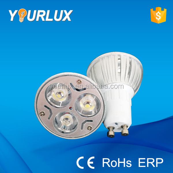 White New Lamp GU10 LED 3W Light Bulb High Power 3X1W Warm YgIbyvm7f6