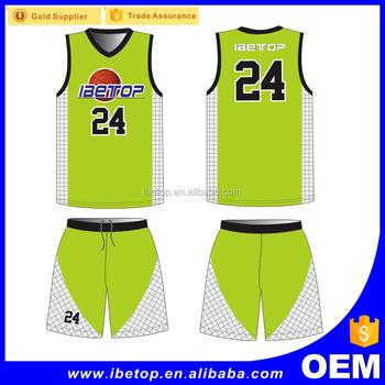 d04d76f754f Unique Custom Design Basketball Jersey Green Color - Buy Green ...