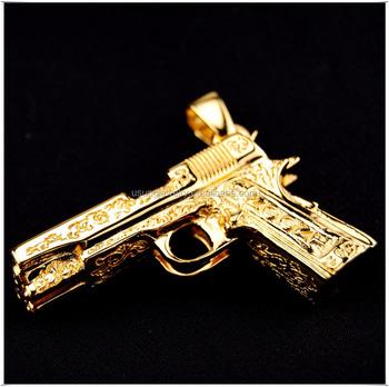 Gold uzi gun pendant necklace buy gun pendantuzi gun pendant gold uzi gun pendant necklace aloadofball Image collections
