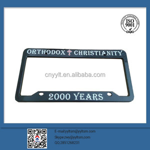 Newest high quality custom chrome metal car license plate frame