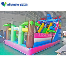 Inflatable double slide ocean high quality inflatable fun city