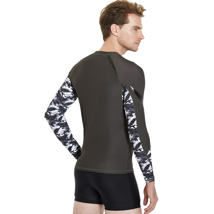 Custom UV50+ Lycra Fabric Sublimated Chinese Manufacturer Swimming Rash Guard